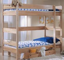 Detská poschodová posteľ z masívu