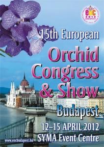 Orchidea kiállítás plakát -angol